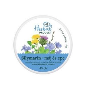 HERBALPRODUKT SILYMARIN+ máj és epe tabletta 45 db